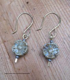 Jasper Flower Bead Earring Dangle Earring by sparkles4life on Etsy, $15.00