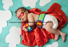 Newborn Superhero Mask - CHOOSE Your Color - Photography Prop Halloween Costume for Infant Baby Boy or Girl via Etsy