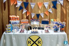Giving serious thought in doing this for a birthday party for Christian ! He loves trains.