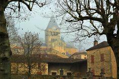 L'église de Duravel-46 Lot- en hiver