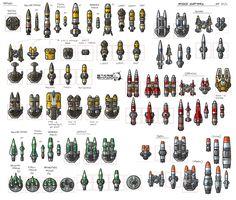 Stars in Shadow: Missile Variants by AriochIV on DeviantArt