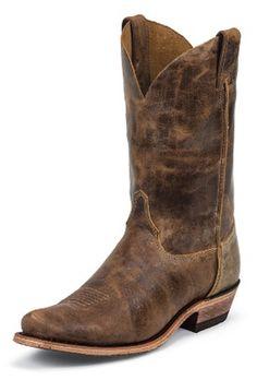 Men's Justin Boots Bent Rail Series Tan Road Cowboy Boots