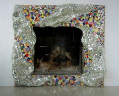 mosaic frame for fireplace