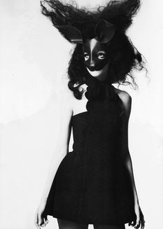 Leather Rabbit Mask available at Maison Kiss Kiss. Photograph by Mert & Marcus