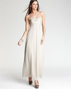 Amsale Ruffle Front Gown   Bloomingdale's