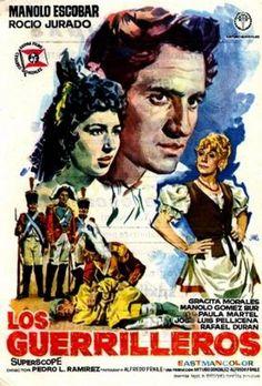 Los Guerrilleros 1962, con Manolo Escobar, Rocío Jurado, Paula Martell, José Luis Pellicena, Gracita Morales, Manolo Gómez Bur