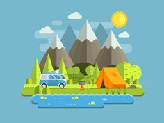 Hello, Dribble!  Happy to get there and big thanks to @Kshitij Choudhary for invite. I am vector illustrator from Belarus. Interested in travel and flat design illustration.  Hope you will like thi...