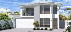 Experience affordable luxury with our range of single and double storey house designs. Pindan Homes is committed to exceptional house design and construction. Browse through our selection of exquisite house designs here. Two Storey House Plans, Double Storey House, Narrow Lot House Plans, House Floor Plans, Custom Home Plans, Custom Homes, Suites Com Closet, Large Open Plan Kitchens, Contemporary House Plans