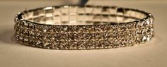 Silver Glitter 3 Row Bracelet. Perfect for any event. www.yorkpromenade.com