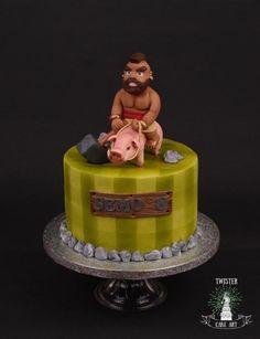 Clash royale hog rider cake - cake by Twister Cake Art