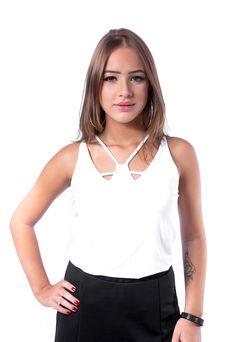 Regata Estrela Branca #blusas
