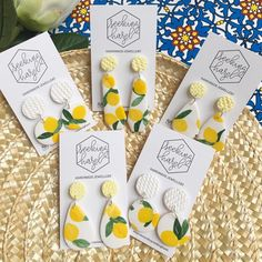 I have only five pairs available! I'll upload them tonight at 8:30pm Adelaide time xx . . . . #handmadeearrings #earrings #lemons #handmadejewellery #jewelry #polymerclay #statementearring #etsy #etsyshop #etsystore #etsyseller #etsyaustralia