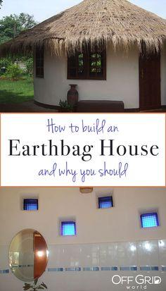 The idea of EARTHBAG-HOUSE.