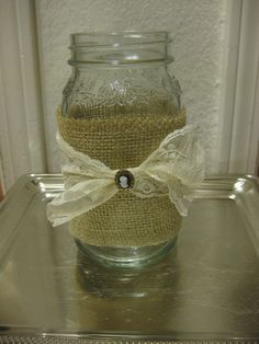 burlap and lace, rustic vintage