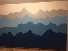 Alaska mountain mural for baby's nursery