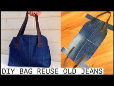 This video will show you step by strep from scratch how to DIY fashion bag/ coudre un petit sac/ bolsa diy/ DIY Ta sche/ bolsa de bricolaje/ DIYバッグ//디백// เย็. Diy Jeans, Diy Fashion Bags, Denim Bag Patterns, Diy Bags Tutorial, Diy Sac, Jean Purses, Diy Bags Purses, Denim Handbags, Creations
