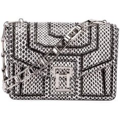 Proenza Schouler Hava Snake Patchwork Chain Shoulder Bag ($1,912) ❤ liked on Polyvore featuring bags, handbags, shoulder bags, snake skin handbags, proenza schouler shoulder bag, snake handbags, kiss-lock handbags and snakeskin purse