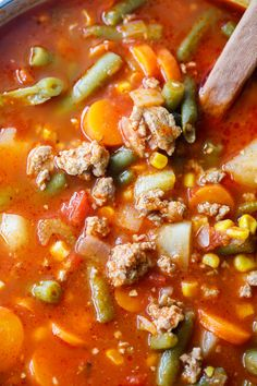 This easy ground turkey vegetable soup recipe is a wonderful hearty soup. It's a great weight loss soup and also freezes well.