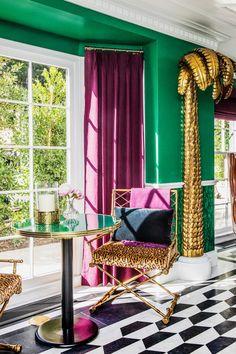 Estilo Hollywood Regency, Hollywood Regency Bedroom, Dream Home Design, House Design, Design Design, Estilo Kitsch, Maximalist Interior, Estilo Interior, Home Decor Inspiration