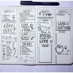 @kassy_ivy I love this layout! So clean, crisp and organized! So great!  | bullet journal | bullet journal junkies | bullet journal junkie | bullet journaling | journaing | planner spread | planner | planning | bujo | bujo junkies | buko junkie |