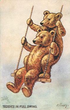 Antique Teddy Bear postcard.