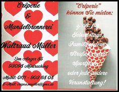 Die Crêperie und Mandelbrennerei Müller aus Mintraching brauchte dringend neue Visitenkarten