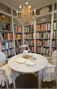 Joni Webb of Cote de Texas - Her stunning library