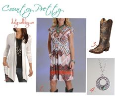 country western inspired spring outfit - Panhandle Slim dress