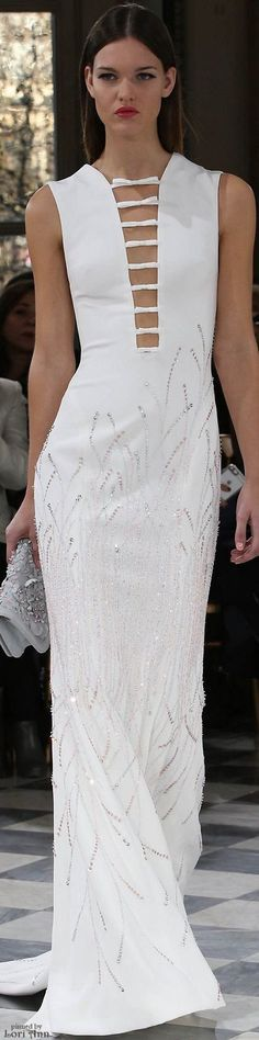 @roressclothes closet ideas women fashion outfit clothing style apparel Georges Hobeika Couture Spring 2016