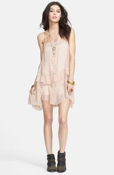 Free People Tiered Polka Dot Slipdress | Nordstrom