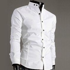 This is a casual stitching design shirt for men.The material is very soft and comfortable and the design is very chic.It absolutely can show your personal charm