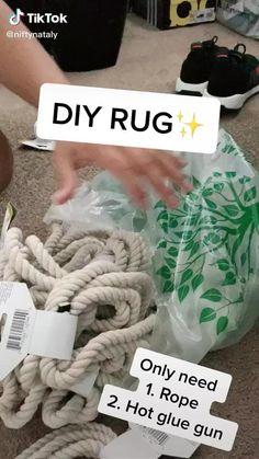 Diy Crafts For Home Decor, Diy Crafts Hacks, Diy Room Decor, Hipster Room Decor, Diys, Dollar Tree Decor, Dollar Tree Crafts, Dollar Tree Finds, Rope Crafts