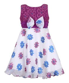 Purple Embroidered Party Dress - Toddler & Girls