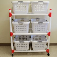 Duracart Basket Master Utility Cart - Best Home Idea Laundry Basket Holder, Laundry Basket Dresser, Laundry Basket Storage, Laundry Room Organization, Laundry Room Design, Storage Baskets, Organizing, Organization Hacks, Business Furniture