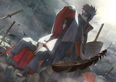 Itachi and Kisame in the rain.