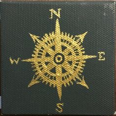 Compass Mini Canvas by MCandCoDesigns on Etsy