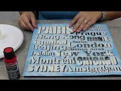 ▶ DIY Stenciled City Frame Tutorial - YouTube
