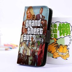 Grand Theft Auto   Games   Wallet Case   iPhone 4 4S 5 5S 5C 6 6+ Case   Samsung Galaxy S3 S4 S5 Cover   HTC Cases - jackandgeorges