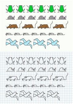 Cornicette con animali baby flash avec et is one of images from animali a quadretti. Find more animali a quadretti images like this one in this gallery Graph Paper Drawings, Graph Paper Art, Easy Drawings, Blackwork Patterns, Blackwork Embroidery, Cross Stitch Borders, Cross Stitch Patterns, Math Art, Learn To Draw