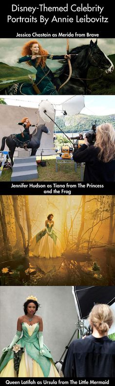 Famous actors photographed as Disney characters…