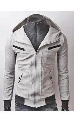 Double layer zip pocket hoodie