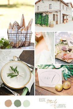 Inspiration board: A Rustic Italy Wedding