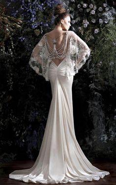 Hermoso y elegante vestido blanco.
