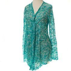 Aqua Crochet Cardigan http://shop.crackerbarrel.com/Aqua-Crochet-Cardigan/dp/B00TFWCRZA