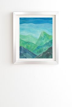 Viviana Gonzalez Lines in the mountains IV Framed Wall Art | DENY Designs Home Accessories