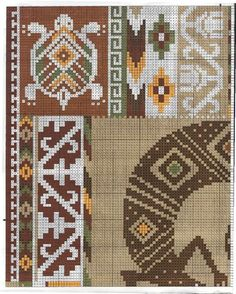 Ornaments and patterns (+oriental) - Monika Romanoff - Picasa Albums Web Beaded Cross Stitch, Crochet Cross, Crochet Chart, Loom Knitting Stitches, Knitting Charts, Loom Bands, Diy Embroidery, Cross Stitch Embroidery, Cross Stitch Designs