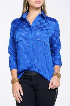 Camisa Crepe Maquinetado você encontra na http://gabrielacravoecanela.iluria.com