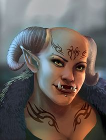 female troll, shadowrun; tattoo