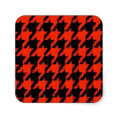 Halloween Houndstooth Pattern Sticker