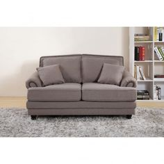 Chic My Room contemporary Nicole upholstered sofa 2 seater suite settee mink neutral comfortable living room seating.